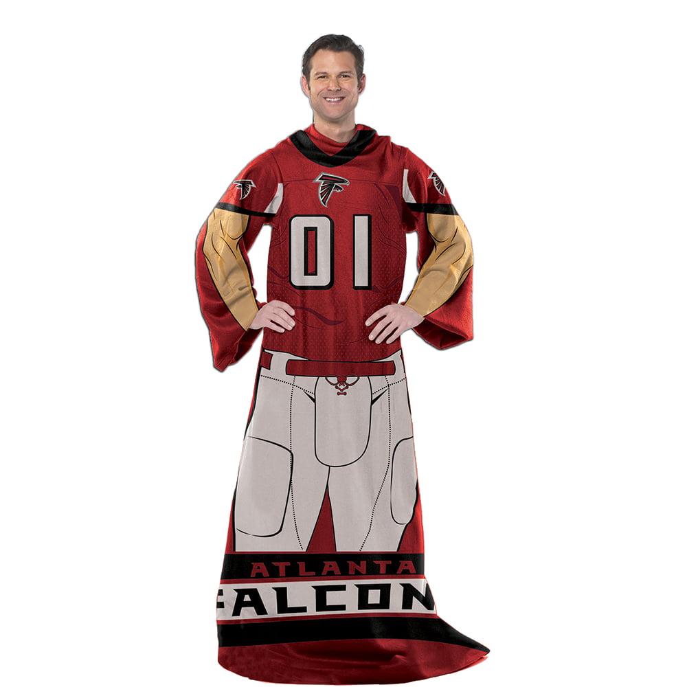Atlanta Falcons Comfy Throw Blanket With Sleeves - Player De