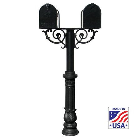 Wood Twig Scroll Kit (QualArc HPWS2-US-700-E1 6 in. The Hanford TWIN Mailbox Post System with Scroll Supports -)