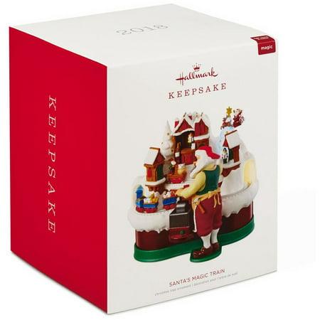 Hallmark Keepsake 2018 Santa's Magic Train Musical Ornament With Light and - Train Ornaments