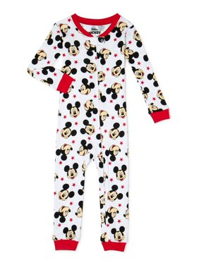 Mickey Mouse Baby Boys & Toddler Boys 1-Piece Snug Fit Cotton Footless Pajamas (9M-5T)