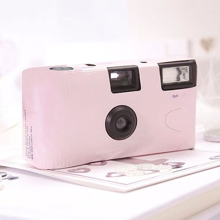 - Pastel Pink Single Use Camera Wedding Favor Party Favor