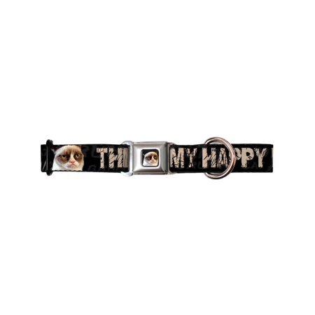 Grumpy Cat Internet Meme My Happy Face Seatbelt Fun Animal Pet Dog Cat Collar - Happy Halloween Cat Memes