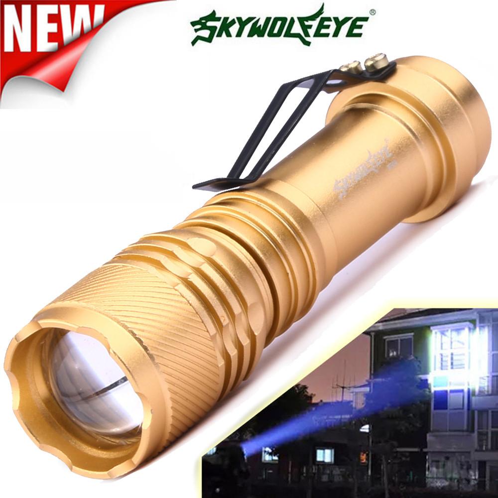 York'Street Super Brightness Q5 AA/14500 3 Modes ZOOMABLE LED Flashlight Torch