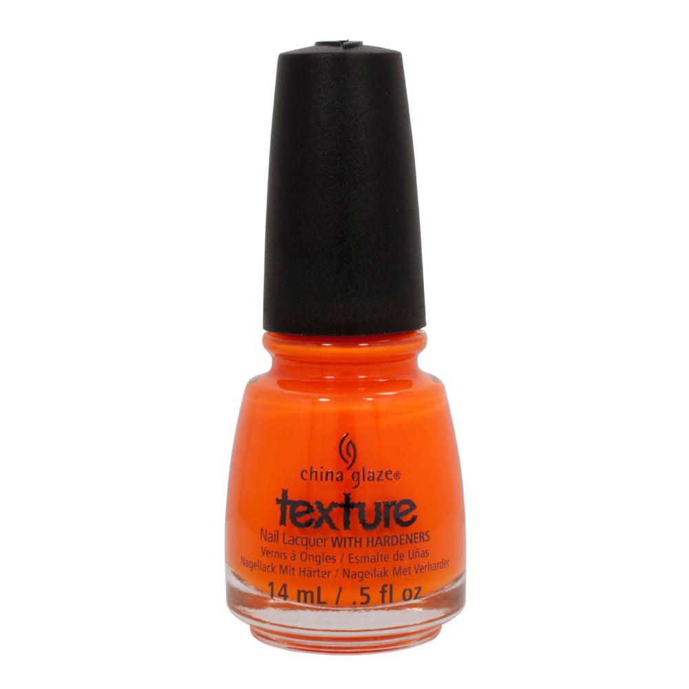 China Glaze 0.5oz Nail Polish Lacquer Clay Orange, TOE-TALLY TEXTURED, 81283