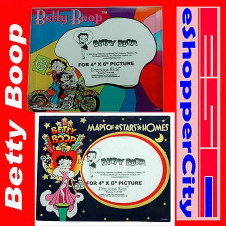 Betty Boop Glass Picture Frame Set of 2 , 4x6 Photo Baker / Glamour  Broadway dance