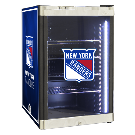 NHL Refrigerated Beverage Center 2.5 cu ft New York Rangers by