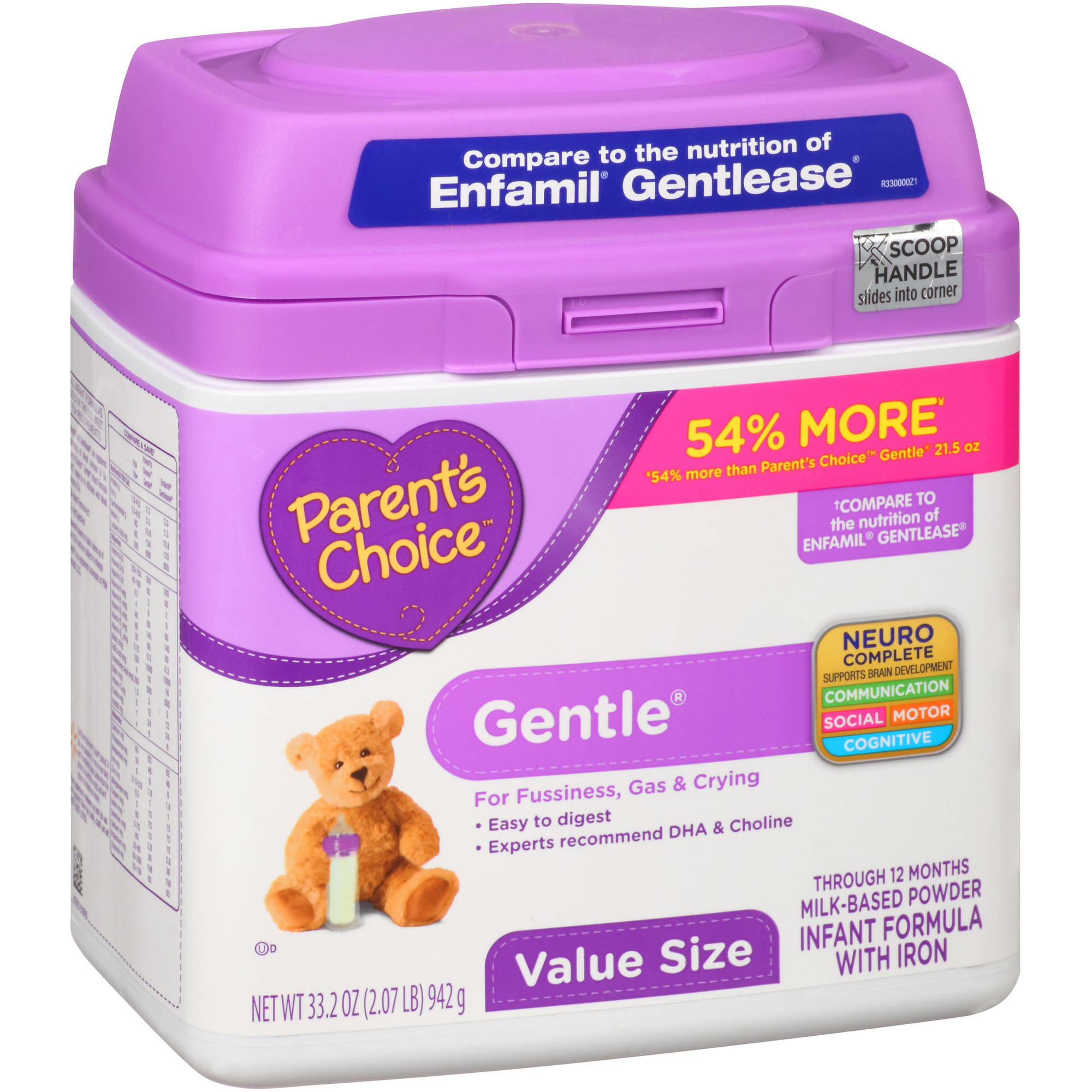 Parent's Choice Gentle Powder Infant Formula with Iron, 33.2oz