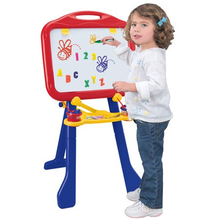 Crayola 4-in-1 Tripod Easel with Dry-Erase Board and Chalkboard, Great for Home and Travel (Kids Chalk Board)