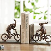 San Pacific International Bunnies on Bikes Bookends
