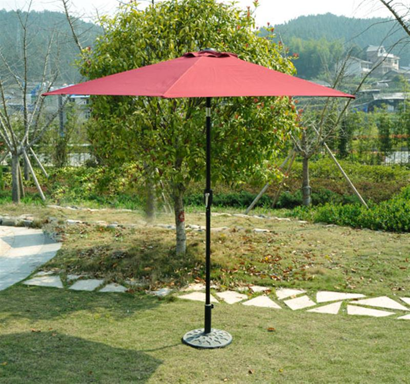 Outsunny 9' Outdoor Aluminum Patio Market Umbrella w/ Tilt - Wine Red