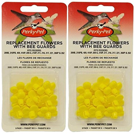 Perky Pet PP202FB Replacement Flowers for PP209B - Pack of 2, Colorful yellow bee guards By (Perky Pet Yellow Bee Guards)