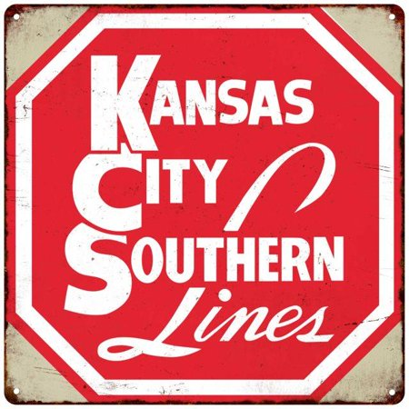 Kansas City Southern Lines Vintage Reproduction Metal Sign 12X12 2120158