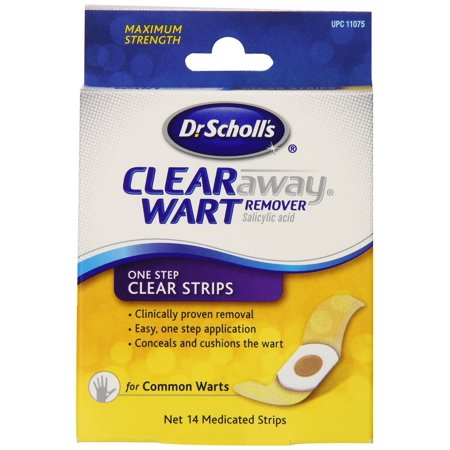 Dr Scholls, Clear Away One Step Salicylic Acid Plantar Acid Wart Remover pads - 14 Strips, (495242) By Dr Dry