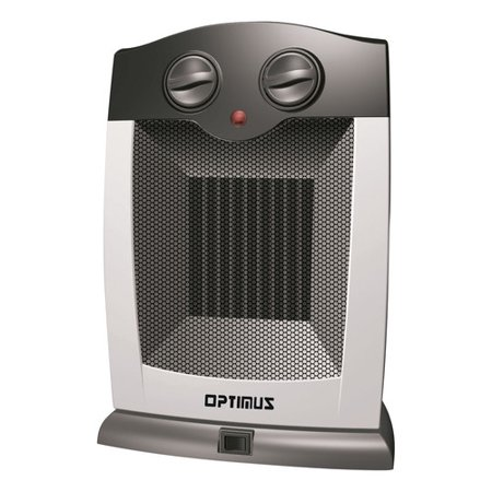 Optimus Electric Portable Oscillating Ceramic Heater with Thermostat, HEOP7248