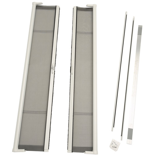 "ODL Brisa Short Double Door Single Pack Retractable Screen for 78"" In-Swing or Out-Swing Doors, White"