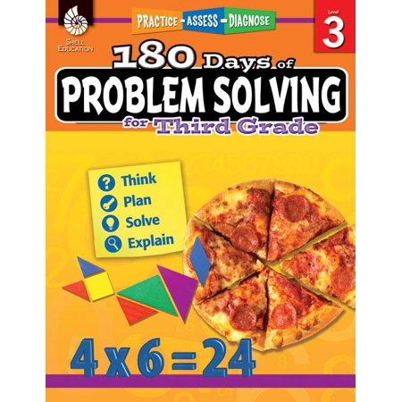 180 Days of Practice: 180 Days of Problem Solving for Third Grade (Grade 3): Practice, Assess, Diagnose (Paperback) 3rd Grade Math Problem Solving