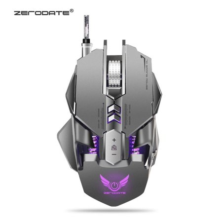 Game Gadget ZERODATE X300GY LED Light Wired Gaming Mouse