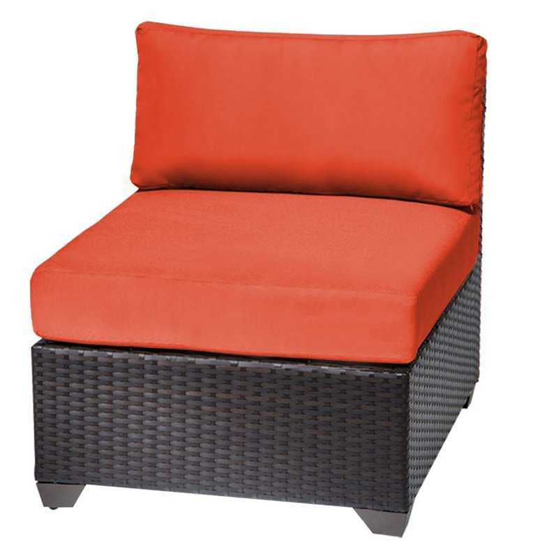 Bowery Hill Armless Patio Chair in Orange