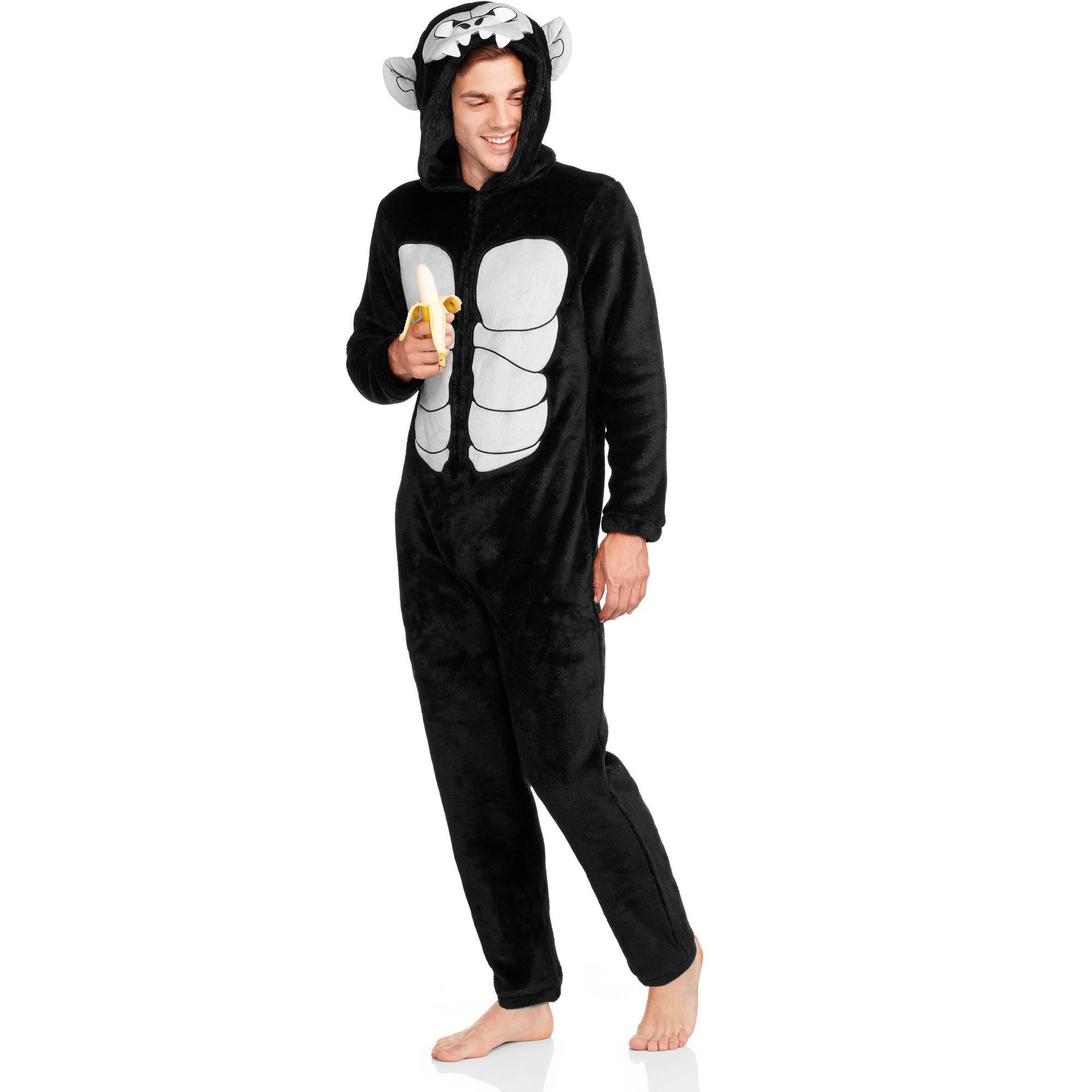 Men's Onesie Gorilla Union Suit