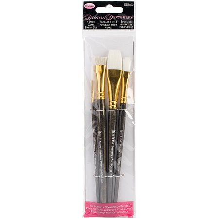 Donna Dewberry 4-Piece Glass Brush Set