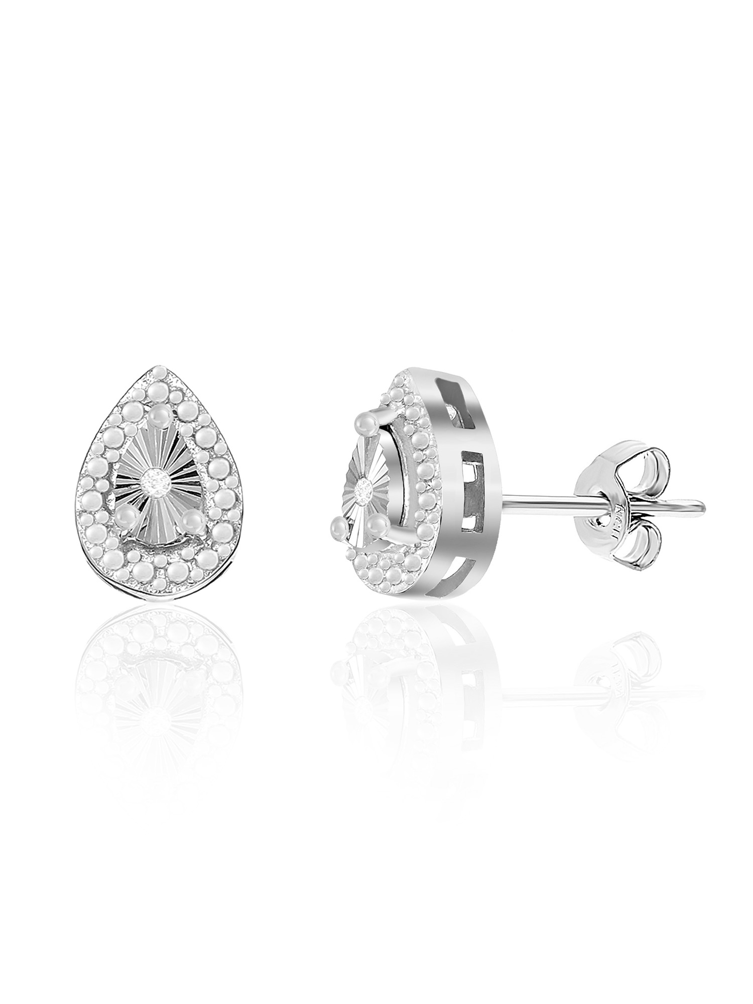 Lumineux Diamond Accent Teardrop Earring