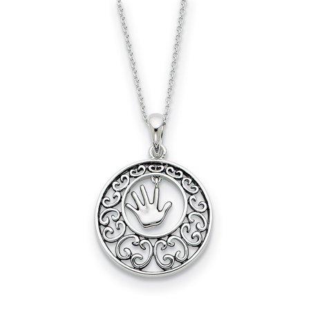 Sterling Silver Antiqued Children 18in Necklace 18 Inch - image 2 de 3