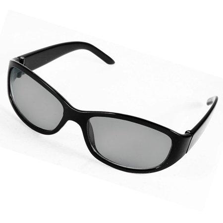Lady Black Plastic Arm Colored Lens Full Rim Sunglasses Eyewear (Coloured Lens Glasses)