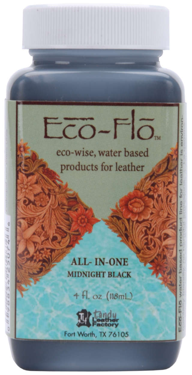 Eco-Flo All-In-One Stain & Finish 4.4oz-Midnight Black
