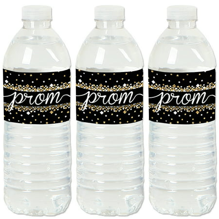 Prom - Prom Night Party Water Bottle Sticker Labels - Set of