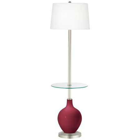 Color + Plus Antique Red Ovo Tray Table Floor Lamp