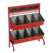 Evergreen Enterprises Metal 2-Tier 8-Bin Storage Unit with Chalkboard Header