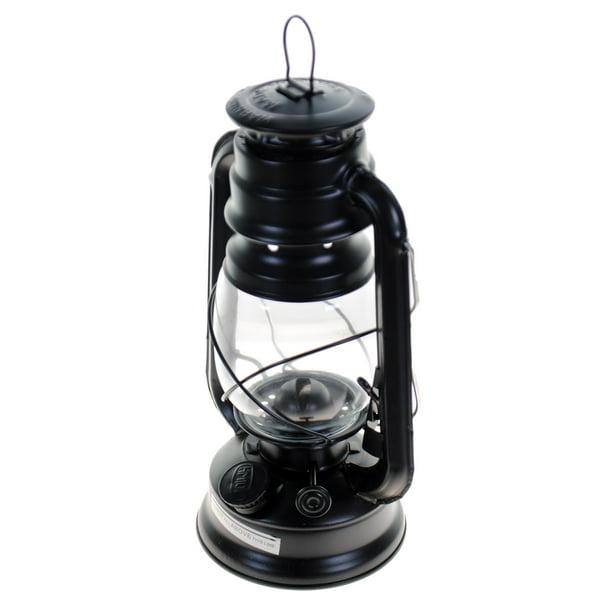 Sun Light 10 Inch Emergency Oil Lamp, Decorative Hurricane Lamps Black
