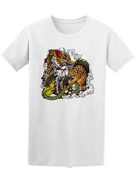 Dragon Vs Tiger Tattoo Tee Men's -Image by Shutterstock