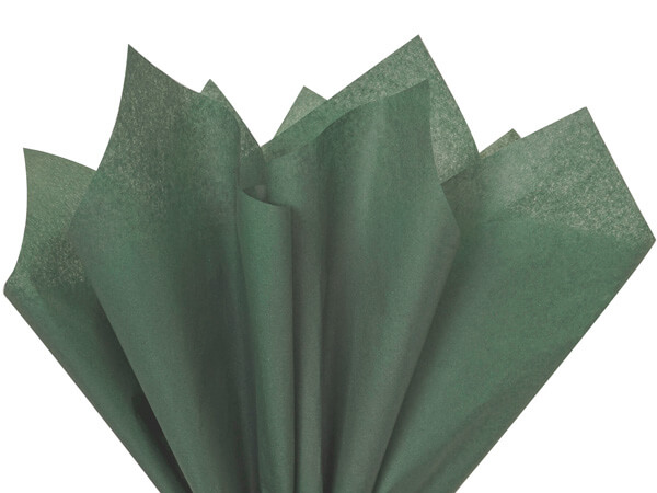 Bulk 10 Sheets Forest Green Tissue Paper Squares Premium Gift Wrap and Art Sup