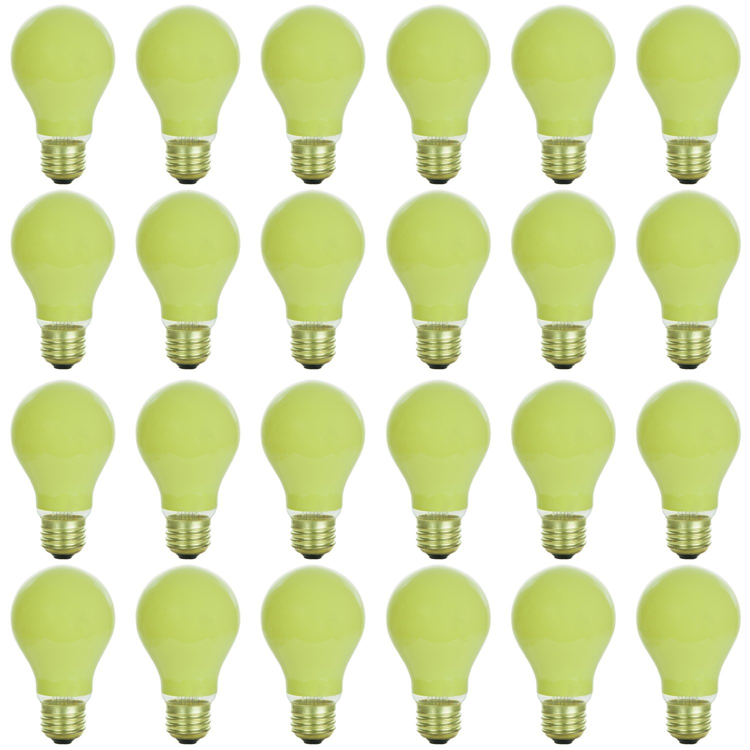 24 Pack of Sunlite 40 watt Ceramic Yellow Colored Incandescent Light Bulb - Parties, Decorative, and Holiday 1,250 Average Life Hours