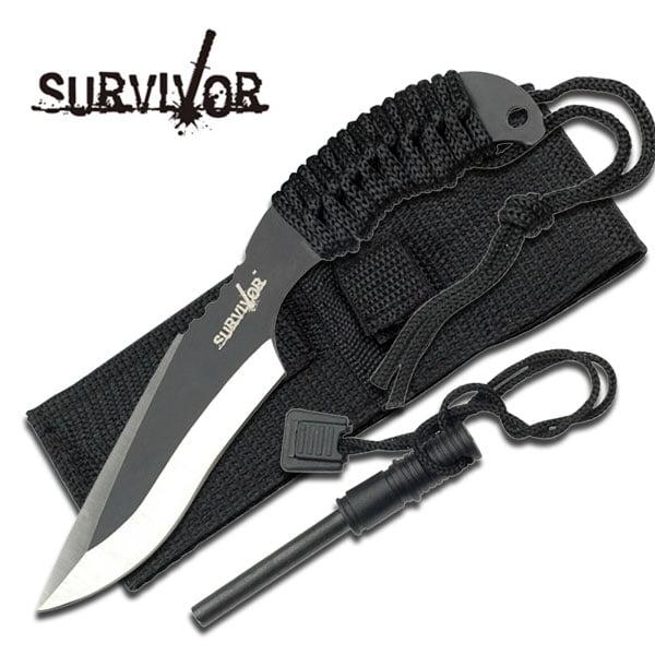 Survivor USA Design Firesteel & Knife Combo Survival Fire Starter Set by Survivor