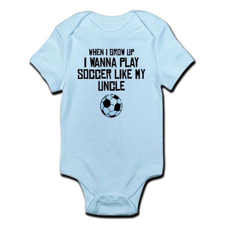 CafePress - Play Soccer Like My Uncle Body Suit - Baby Light Bodysuit