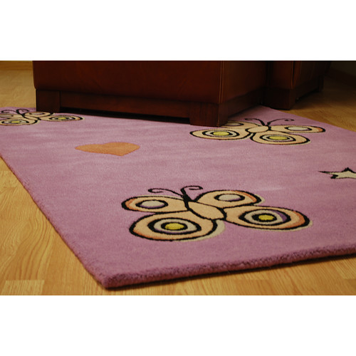 St. Croix Playful Purple Butterfly Kisses Rug