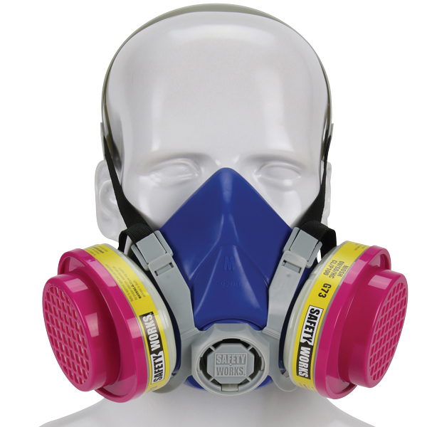 Safety Works Half-Mask P100 Multi-Purpose Respirator, Medium