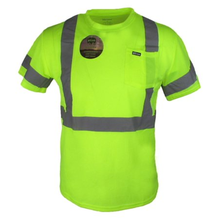 - Buffalo Outdoors Men's Hi Vis Reflective Safety Pocket T Shirt High Visibility