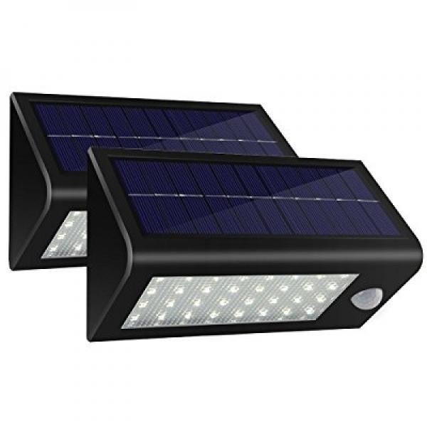 400Lumens Max 32LED Solar Lights, Hallomall Waterproof So...