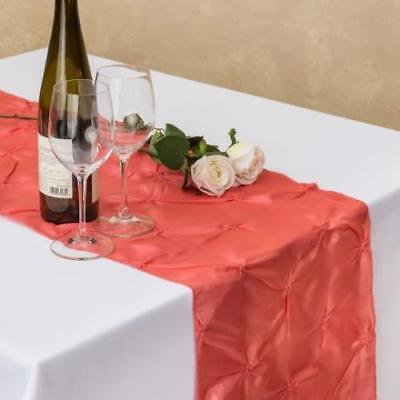 14 x 108 in. Pinwheel Table Runner Coral - Coral Table Runner