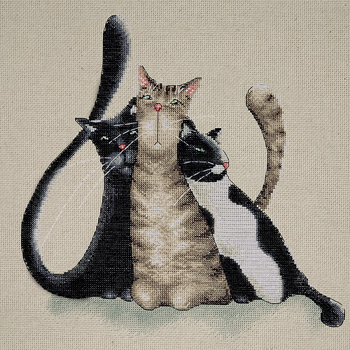 Tobin Counted Cross-Stitch Kit, Kitty Trio