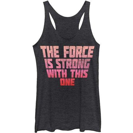 Star Wars Women's  Strong Force - Heather - Racerback Womens Tank Black