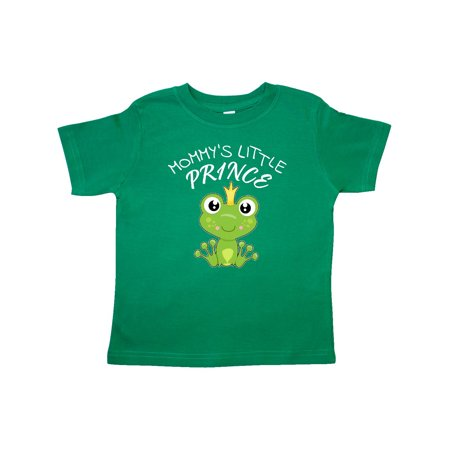 311dd3aeda23 INKtastic - Mommy s Little Prince- cute frog Toddler T-Shirt ...