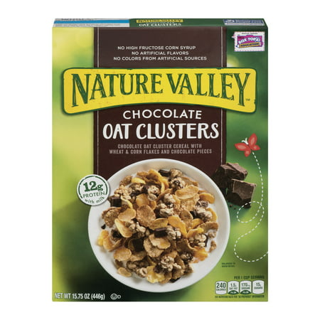 Nature Valley Cereal  Chocolate Oat Clusters  15 75 Ounce  15 75 Oz