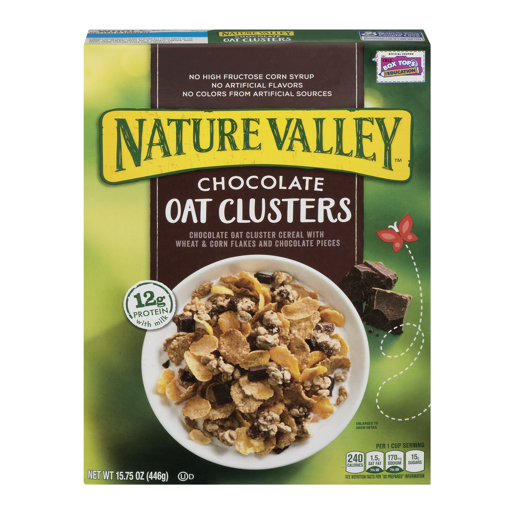 Nature Valley Cereal, Chocolate Oat Clusters, 15.75 Ounce, 15.75 OZ