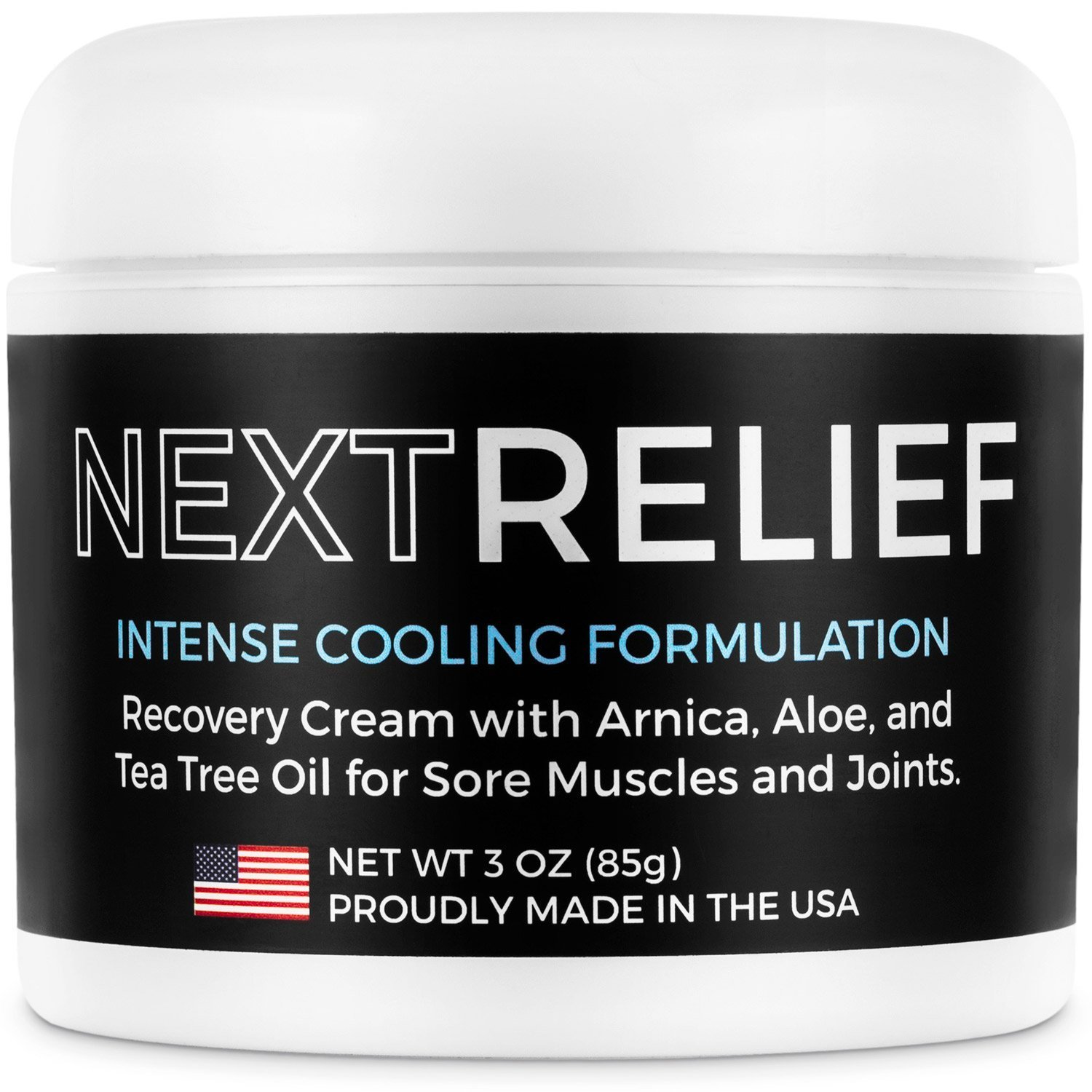 NextRelief Cooling Pain Relief Cream - [3 Oz] USA Made with Arnica, Aloe, Tea Tree Oil, & More - Feels Great on Muscles and Joints - Use for Soreness, Aches, Inflammation, Arthritis, Sciatica, & More