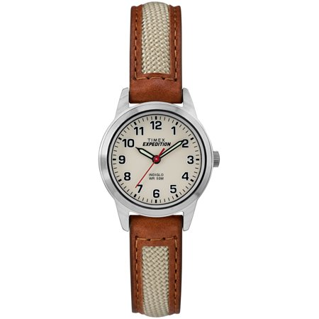 Women's Expedition Field Mini Brown/Natural Watch, Nylon/Leather Strap ()