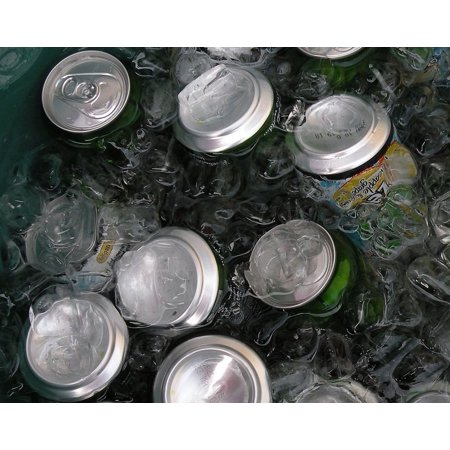 Canvas Print Drinks Aluminum Ice Cans Water Chilled Stretched Canvas 10 x 14